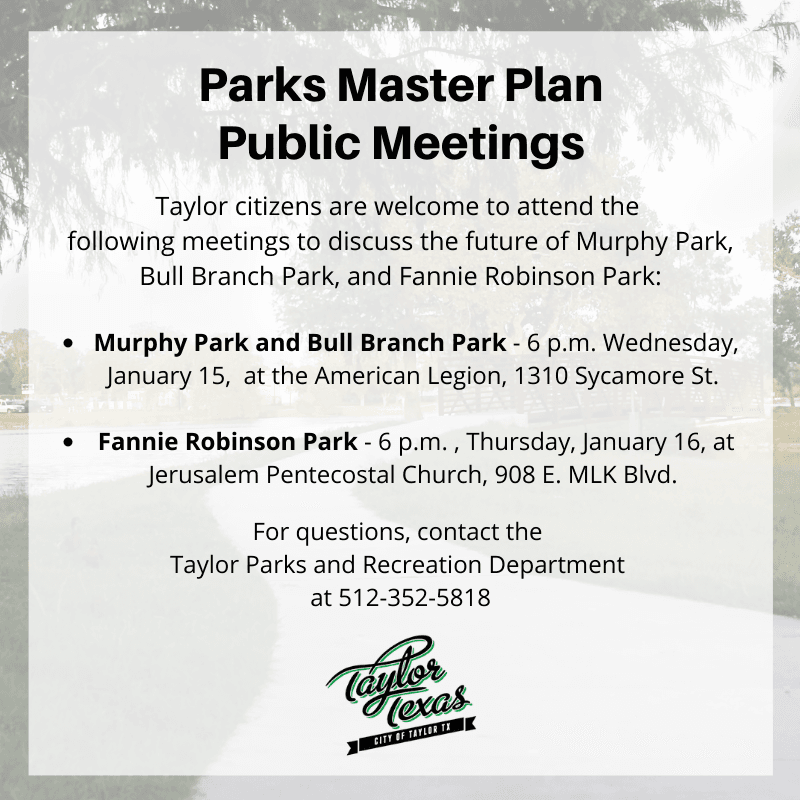 Parks Master Plan Public Meetings (2)