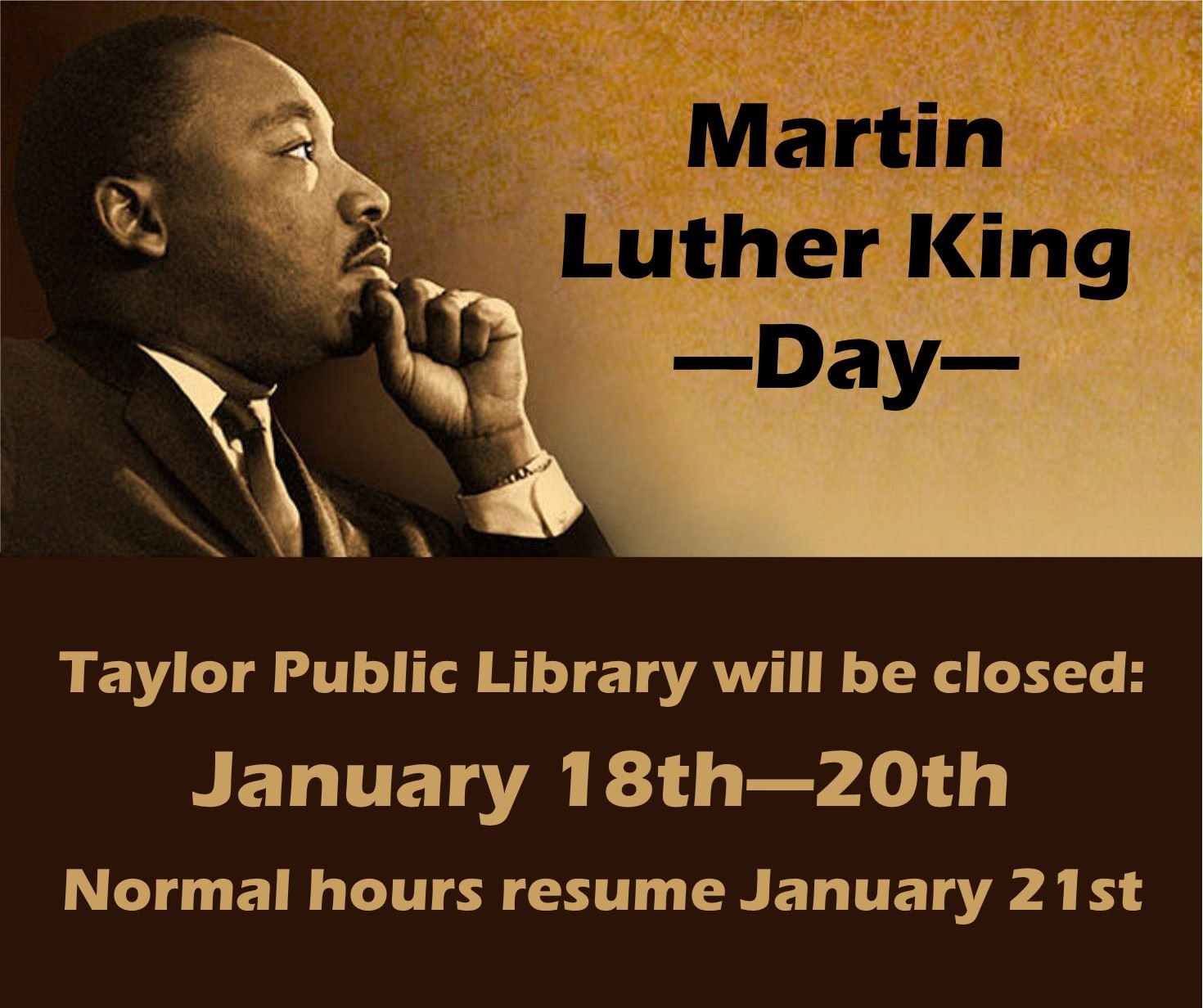 MLK Day Closure 2020