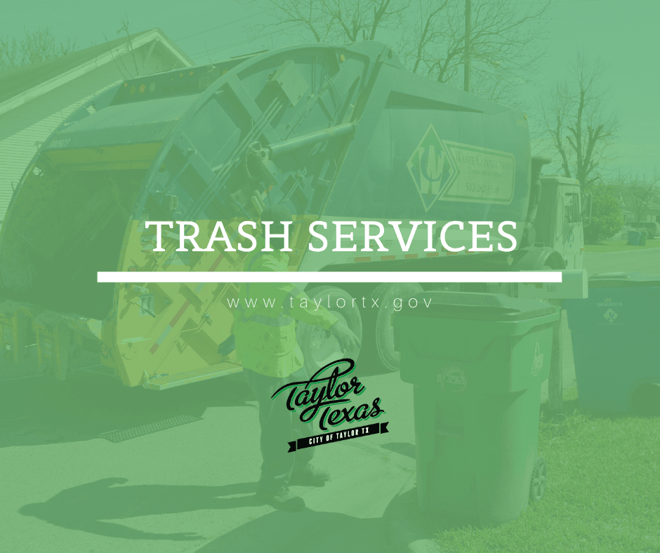Trash Services Graphic With Garbage Truck