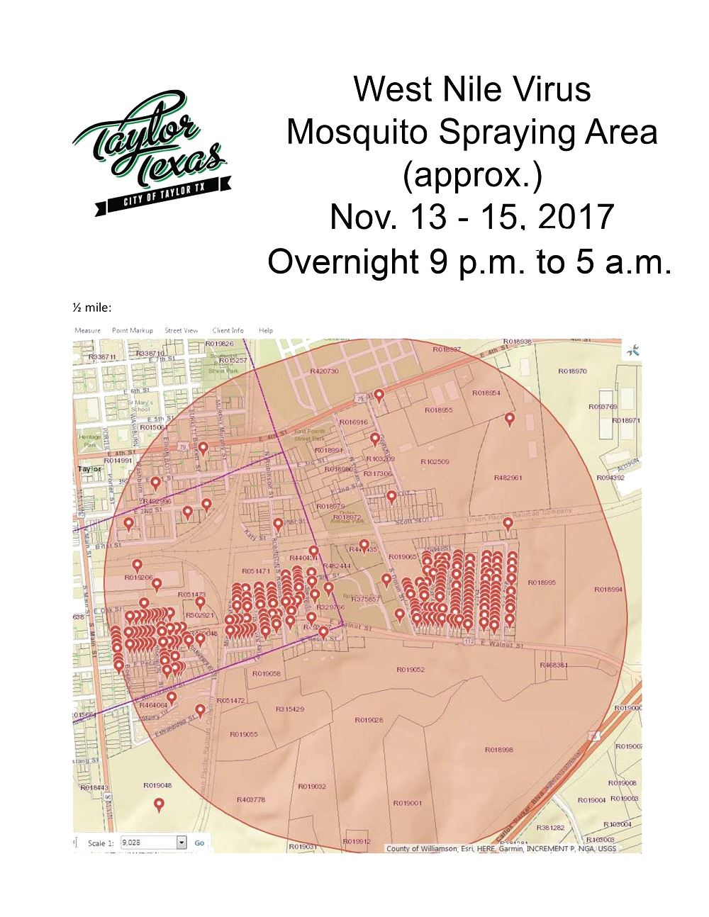 Spray area map-overnighthours-web - Taylor