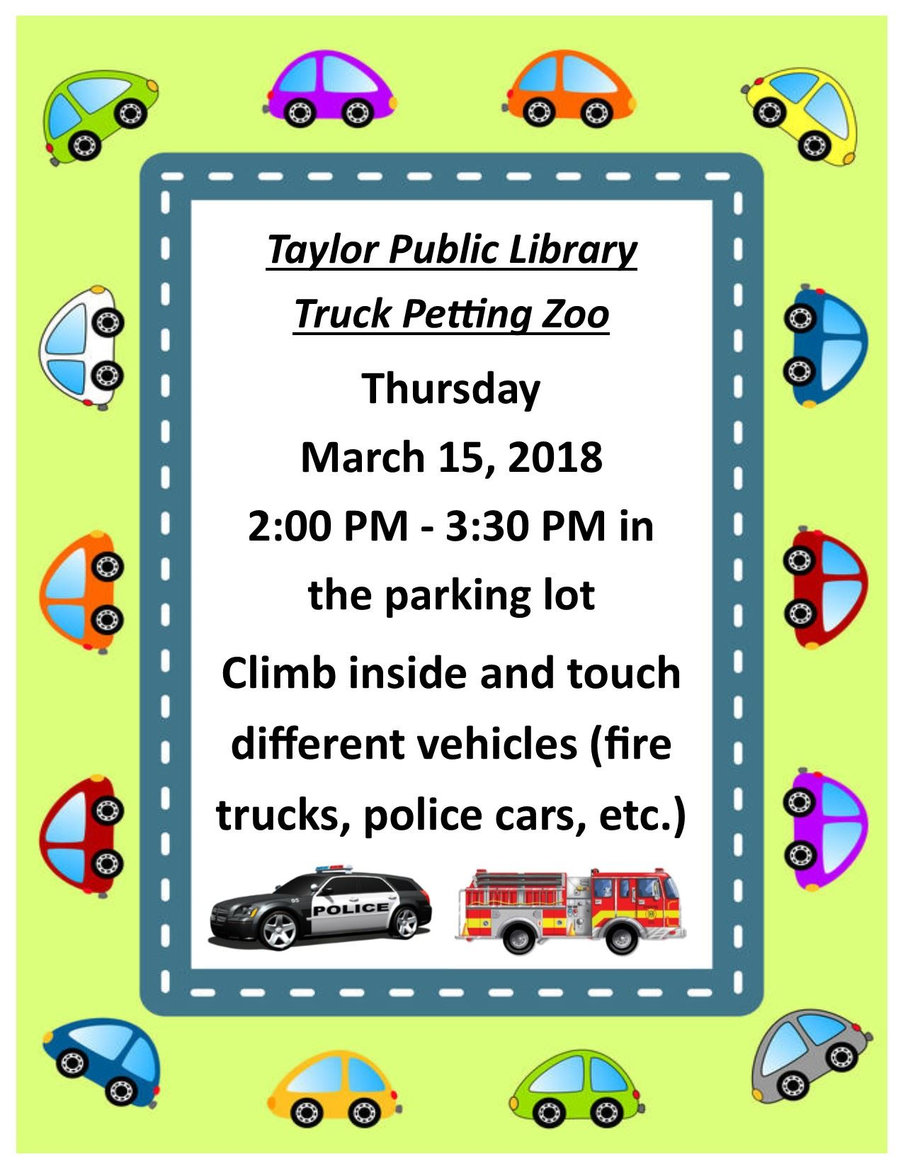 Truck Petting Zoo Flyer