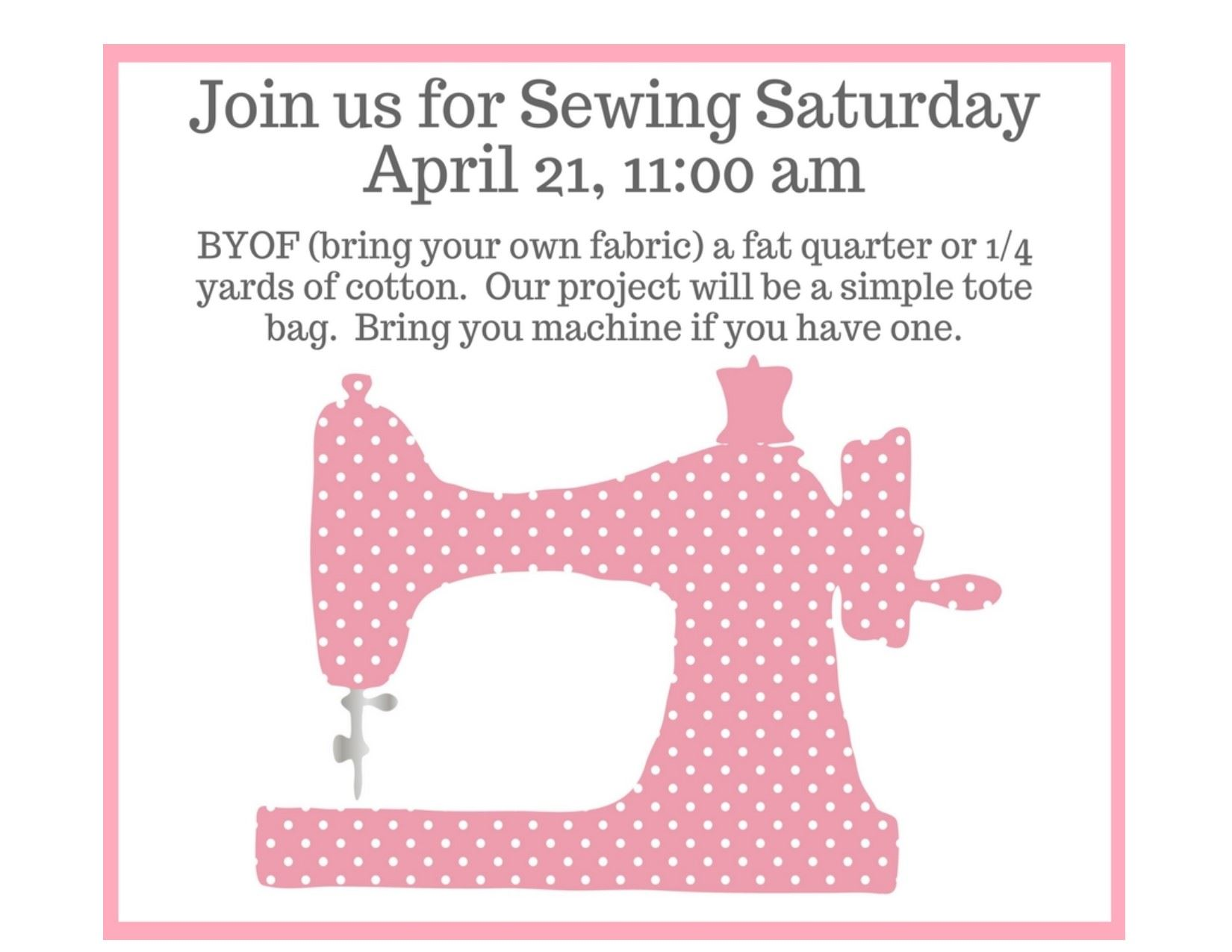 Saturday Sewing April 212018