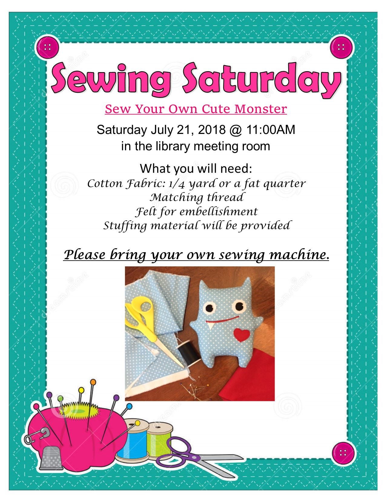 Monster Sewing Poster