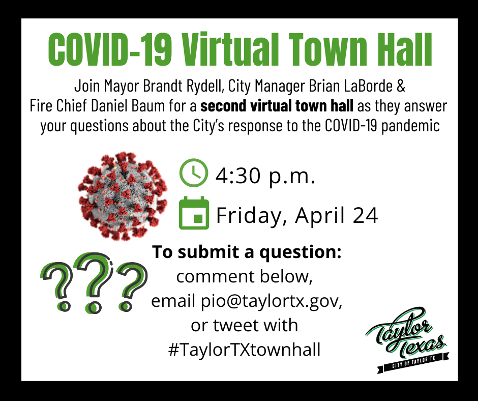 Second COVID-19 Facebook Town Hall